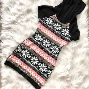 Poof Girl Sweater Sequins highlight turtle Neck